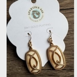 Spartina 449 Jewelry - Spartina 449 18K Gold Plated Earrings